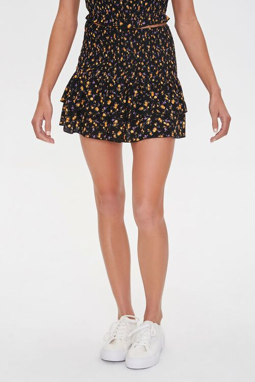 Tiered Mini Floral Skirt, image 2