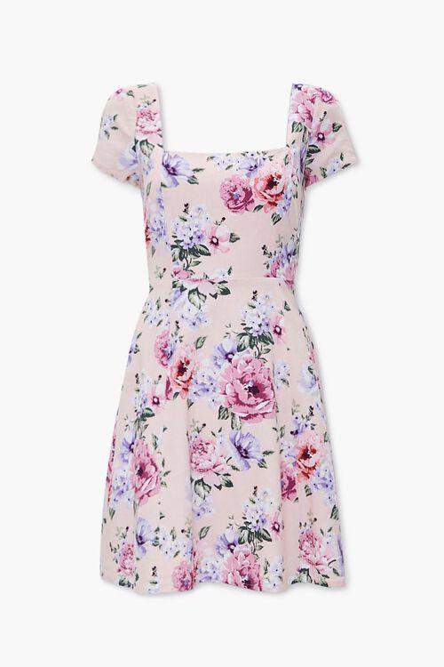 Floral Print Cutout Dress, image 1