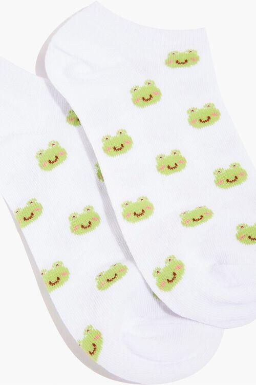 Frog Print Ankle Socks, image 2