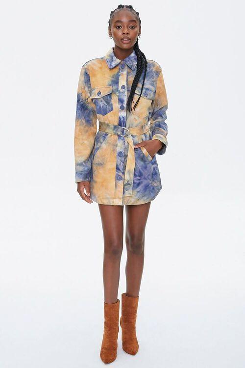 MUSTARD/BLUE Tie-Dye Shirt Jacket, image 4