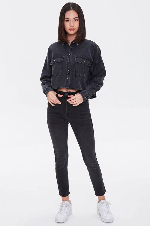 Drop-Sleeve Denim Shirt, image 4