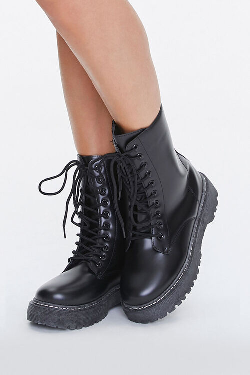 Lug-Sole Combat Boots, image 1