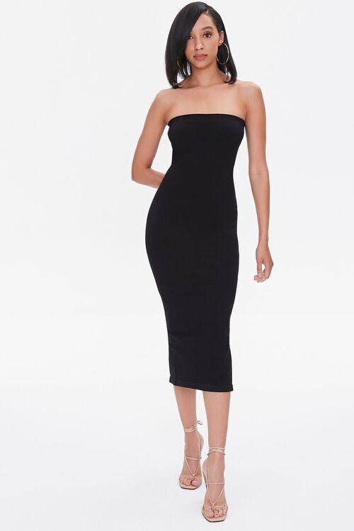 Seamless Strapless Bodycon Midi Dress, image 4