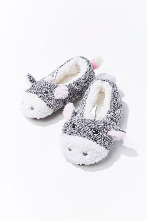 Plush Unicorn Indoor Slippers, image 1
