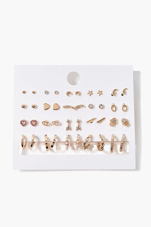 GOLD Variety Hoop & Stud Earring Set, image 1