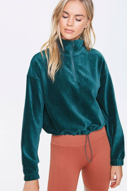 Ribbed Half-Zip Pullover, image 1