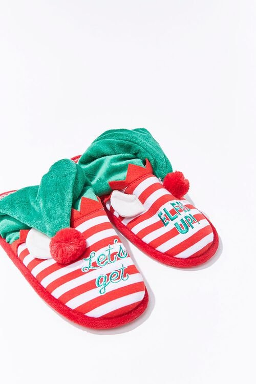 Lets Get Elfed Up Indoor Slippers, image 1