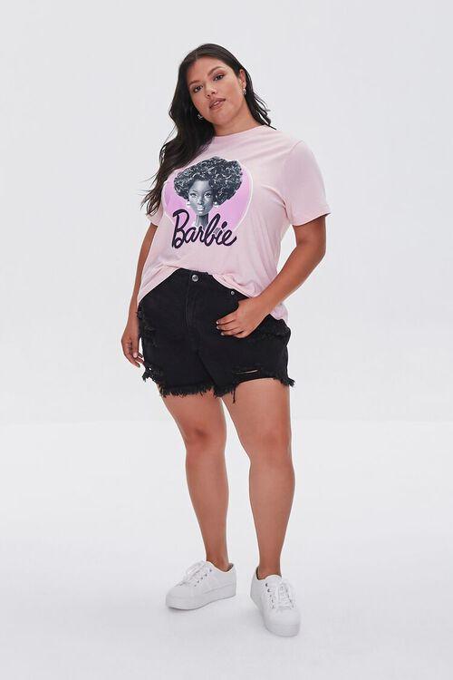 PINK/MULTI Plus Size Barbie Graphic Tee, image 4