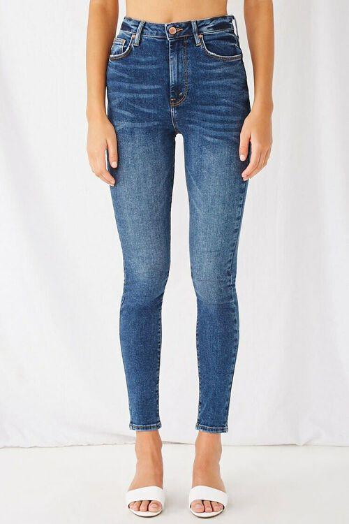 DARK DENIM The Fairfax Super Skinny High-Rise Jeans, image 2
