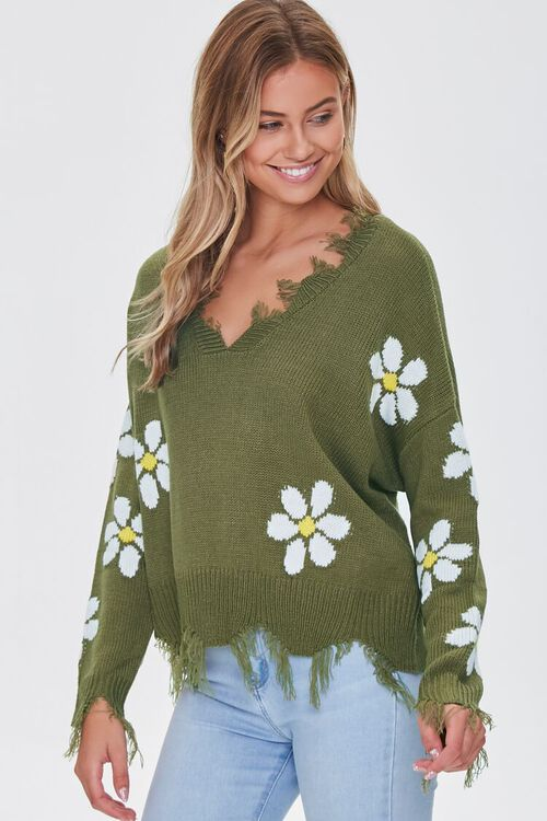 Distressed Daisy Sweater, image 1