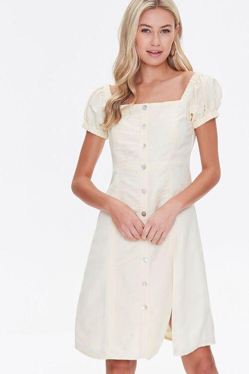 Linen Fit & Flare Dress, image 1