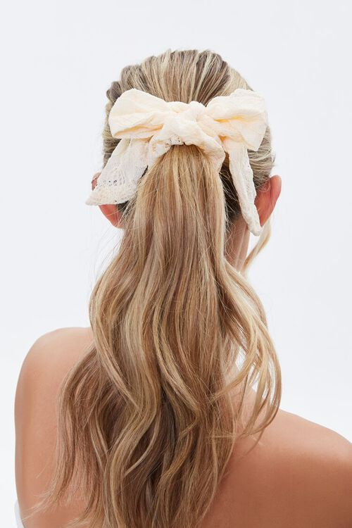 Lace Bow Scrunchie, image 1