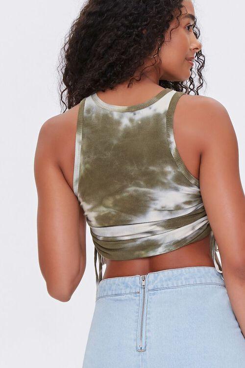 OLIVE/CREAM Tie-Dye Crop Top, image 3