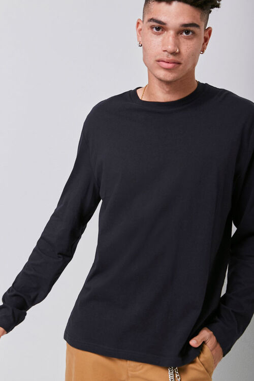 Long Sleeve Crew Neck Tee, image 1
