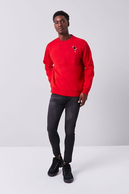 RED/MULTI Embroidered Dancer Graphic Pullover, image 4