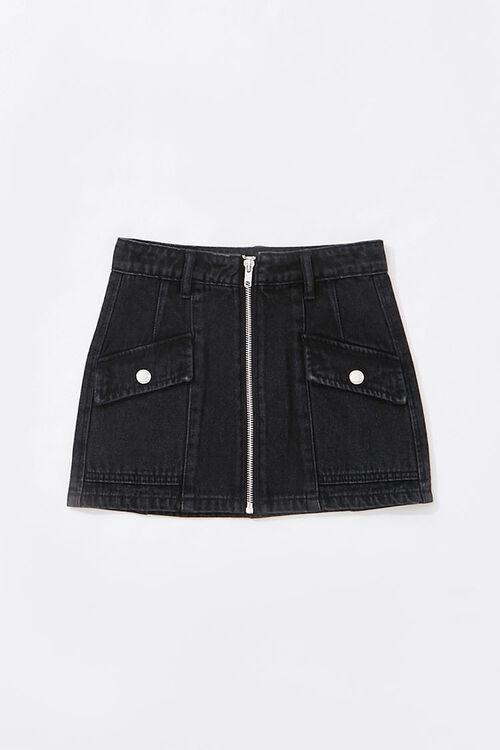Girls Zip-Up Denim Skirt (Kids), image 1