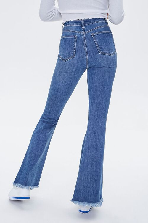 Frayed Distressed Flare Jeans, image 4