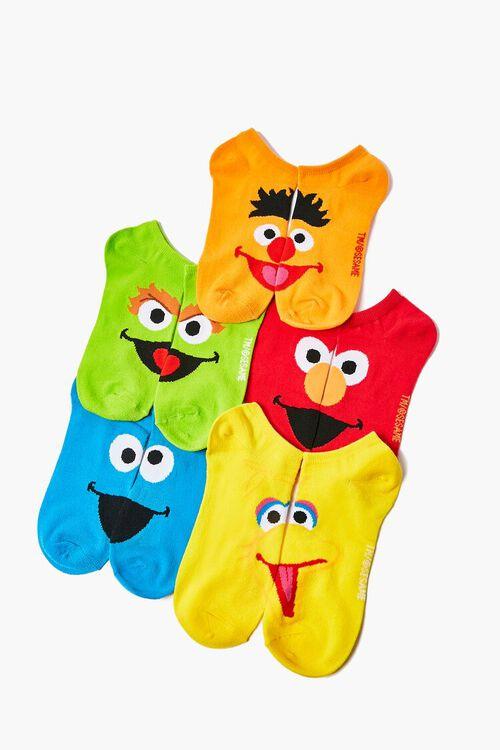Sesame Street Graphic Ankle Socks - 5 Pack, image 1