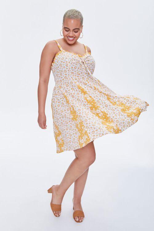 Plus Size Reworked Floral Mini Dress, image 2