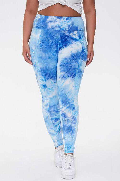 Plus Size Active Tie-Dye Leggings, image 2