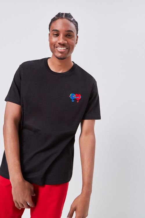 Earth Heart Embroidered Graphic Tee, image 1