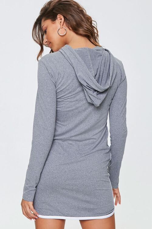 Contrast-Trim Hoodie Dress, image 3