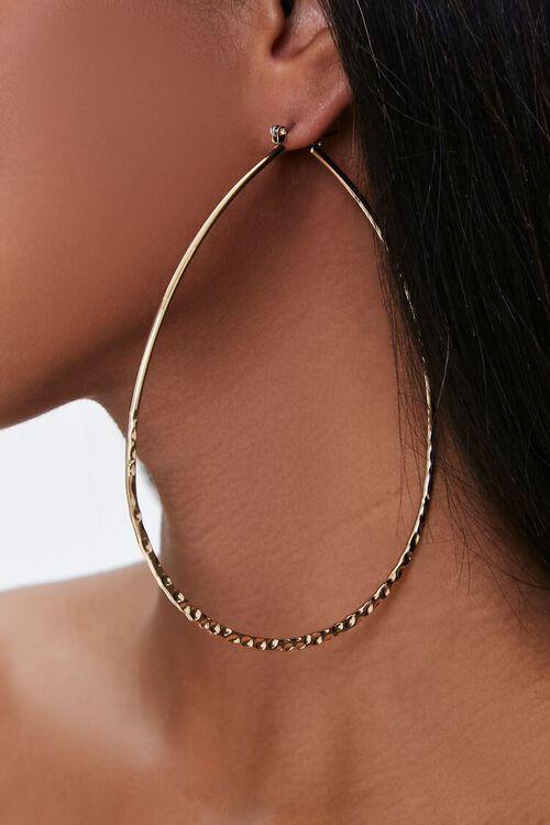 Oversized Oval Hoop Earrings, image 1