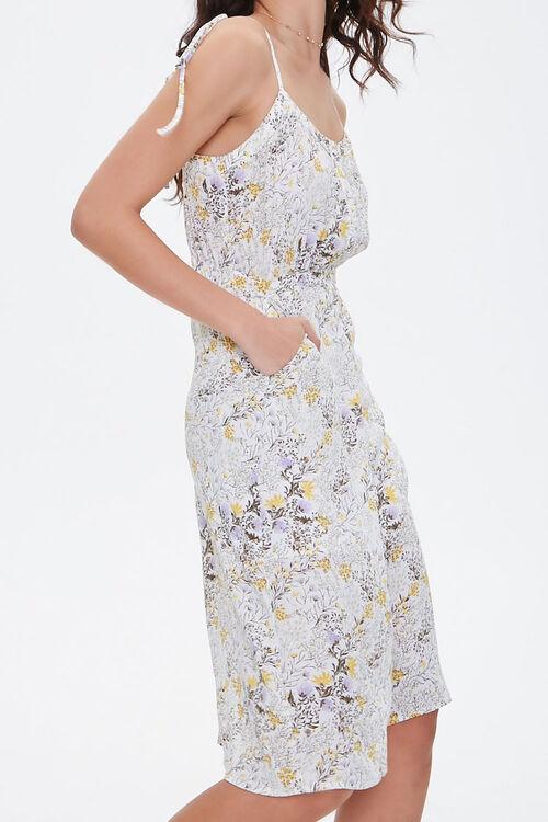 CREAM/MULTI Floral Chiffon Midi Dress, image 3