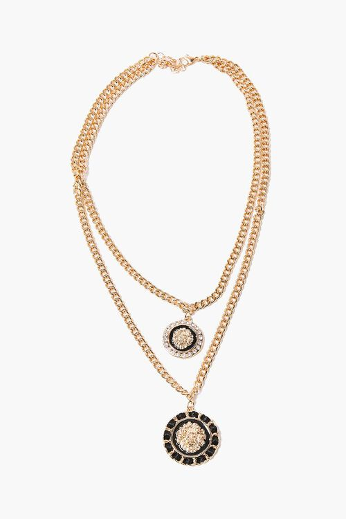 Ornate Lion Pendant Layered Necklace, image 2