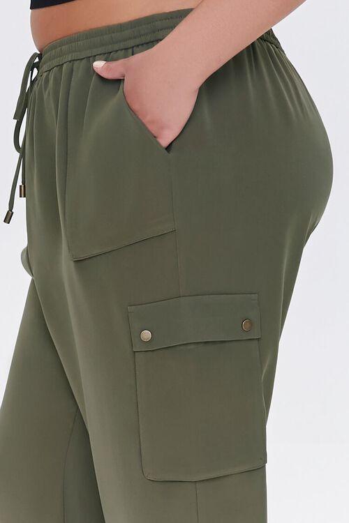 Plus Size Drawstring Cargo Pants, image 5