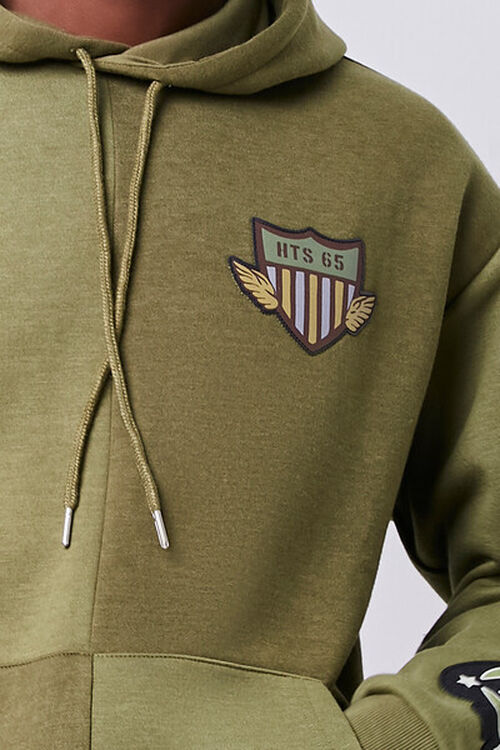 Patch Graphic Fleece Hoodie, image 6