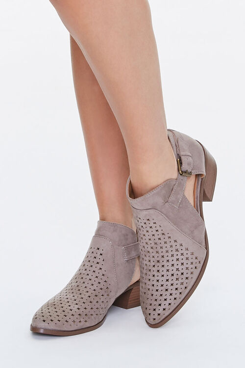 Perforated Buckled Booties, image 1