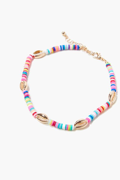 Beaded Cowrie Shell Anklet, image 2