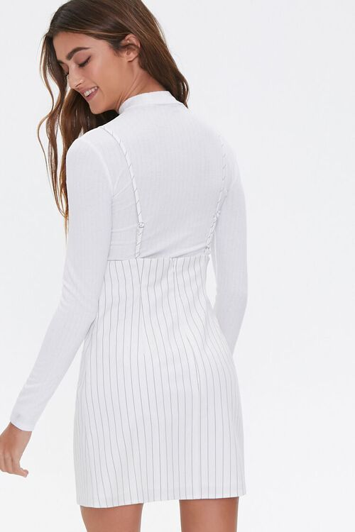 Striped Print Overall Dress, image 3
