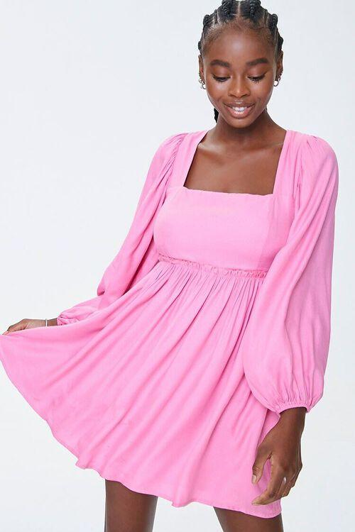 Peasant-Sleeve Mini Dress, image 1