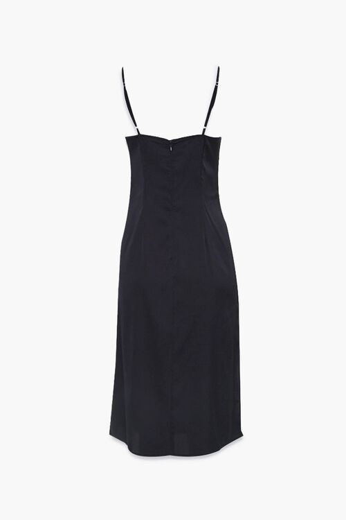 Satin Side-Slit Midi Dress, image 3