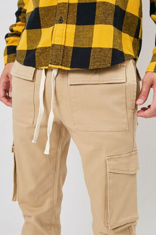 Drawstring Chino Cargo Pants, image 5