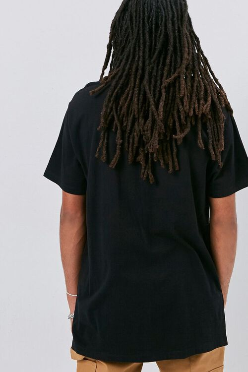 High-Low Vented Crew Neck Tee, image 3