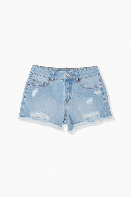 Girls Distressed Denim Shorts (Kids), image 1