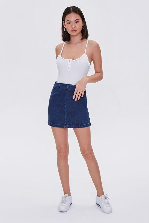 Ruffle-Trim Cami Bodysuit, image 4