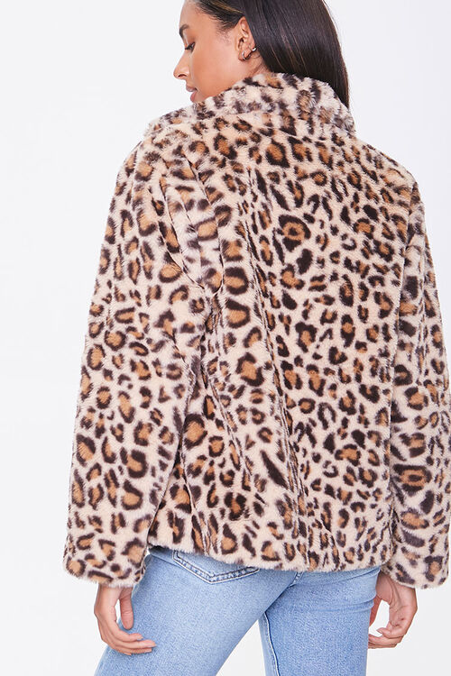 Plush Leopard Print Jacket, image 3