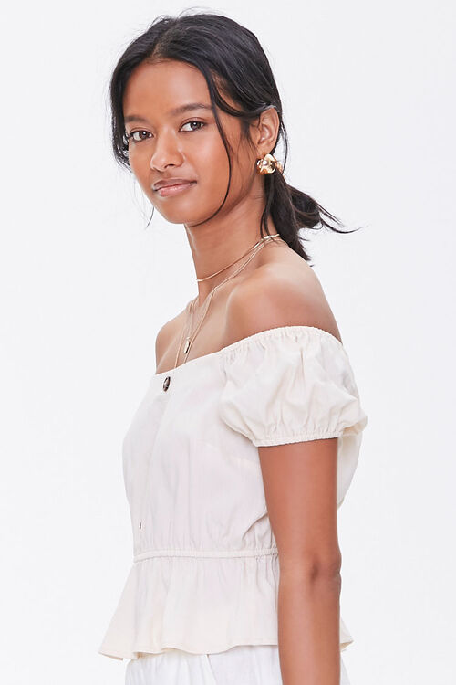 Off-the-Shoulder Puff Sleeve Top, image 2