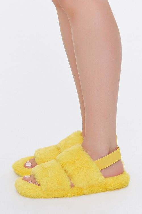 Faux Fur Backstrap Slippers, image 2
