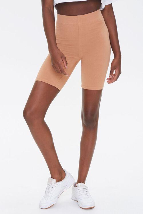 CAMEL Basic Cotton-Blend Biker Shorts, image 2