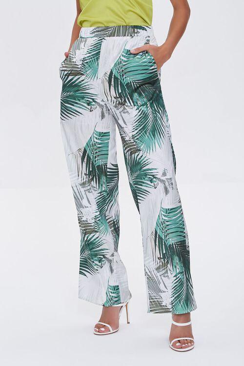 Tropical Print Wide-Leg Pants, image 2