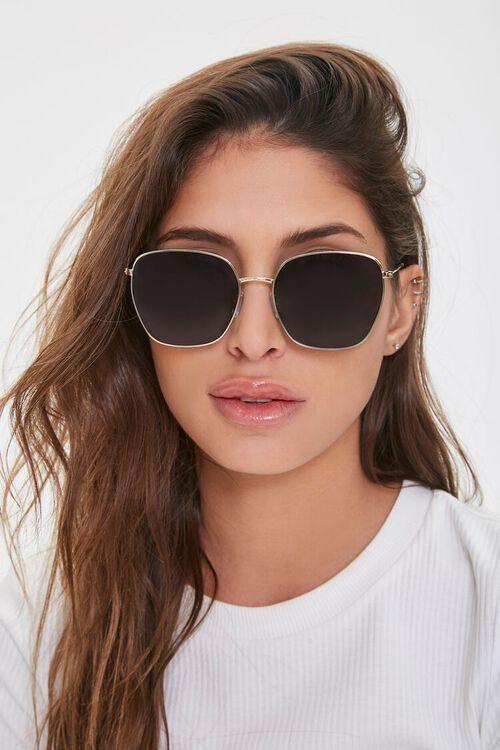 Tinted Geo Metal Sunglasses, image 2