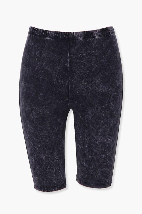 Stone Wash Biker Shorts, image 1