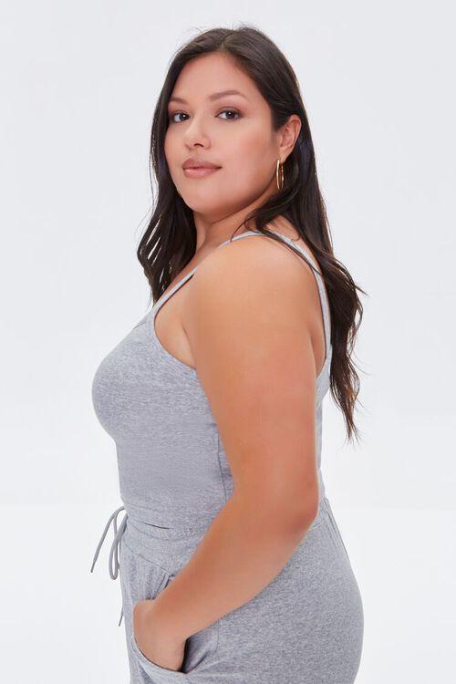HEATHER GREY Plus Size Cropped Cami, image 2