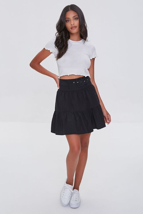 Tiered Buckled Mini Skirt, image 5