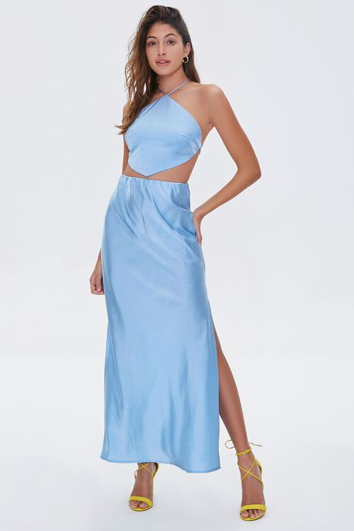 Satin Maxi Skirt, image 1
